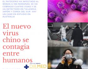 El patógeno ha infectado al menos a 300 personas, se ha cobrado cuatro vidas y se ha detectado en Tailandia, Japón y Corea del Sur. Hay un caso en estudio en Australia. La Organización Mundial de la Salud (OMS) ha convocado este lunes un comité de emergencia ante el avance del nuevo coronavirus de Wuhan. Se reunirá el miércoles para determinar si supone una urgencia internacional, para hacer recomendaciones y buscar soluciones a su amenaza. La decisión llega tras la confirmación de las autoridades chinas de que se puede transmitir entre personas, algo que hace más peligrosa la enfermedad. Hasta el martes por la tarde ha causado seis víctimas mortales. Taiwan ha confirmado su primer caso. Mientras, las autoridades australianas investigan un posible caso en la ciudad de Brisbane, de un hombre que viajó recientemente a la ciudad china y que ha sido puesto en cuarentena tras mostrar síntomas de enfermedad respiratoria.